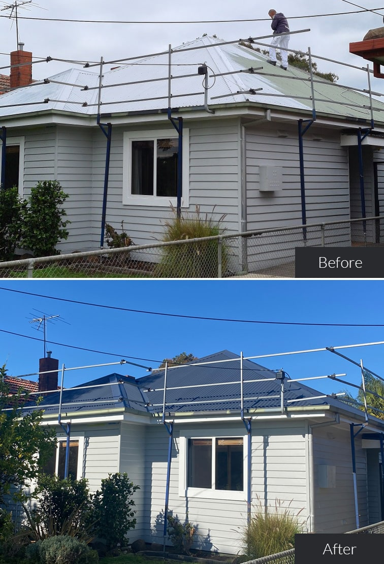 prestige painting roofing painting before and after